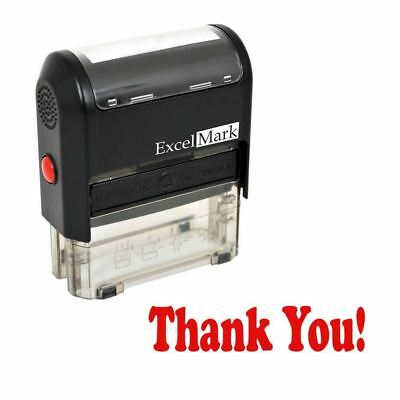 Thank You - Excelmark Self Inking Rubber Stamp A1539 - Red Ink
