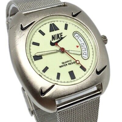 Nike Vintage Full Lume Men's Divers Watch Japan Quartz Rare Sports Military Flat