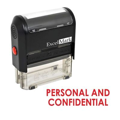 Confidential Ink Stamp - ExcelMark PERSONAL AND CONFIDENTIAL Self Inking Rubber Stamp A1539 | Red Ink