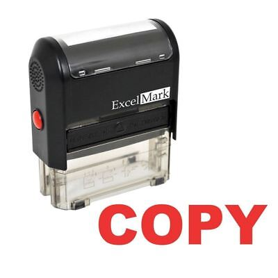 Excelmark Copy Self Inking Rubber Stamp A1539 Red Ink