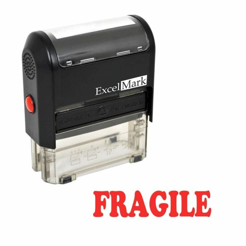 FRAGILE - ExcelMark Self Inking Rubber Stamp A1539 | Red Ink