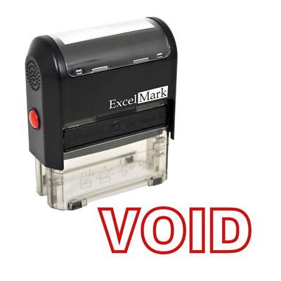 Void - Excelmark A1539 Self Inking Rubber Stamp - Red Ink