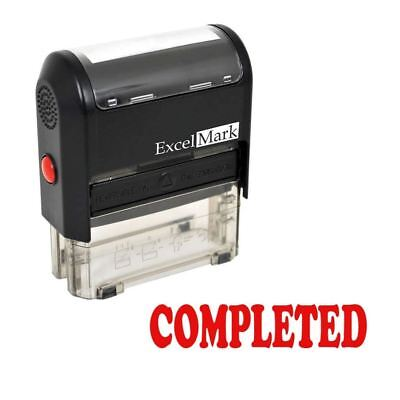 Completed - Excelmark Self Inking Rubber Stamp A1539 Red Ink