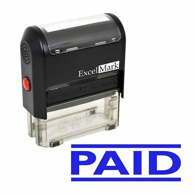 Excelmark Paid Self Inking Rubber Stamp A1539 Blue Ink