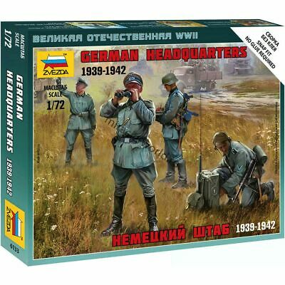 Zvezda #6133-1:72 German Headquarters Staff WWII 1939-1942