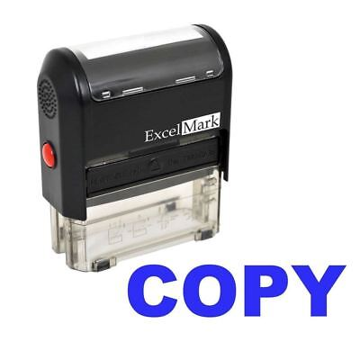 Copy - Excelmark Self Inking Rubber Stamp A1539 Blue Ink