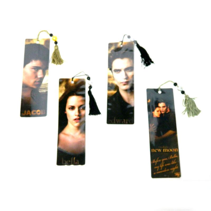 Lot of (4) Different Twilight Saga New Moon Bookmarks - Bella, Jacob, Edward