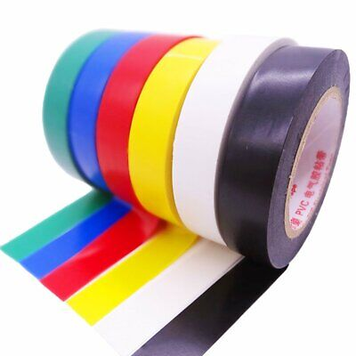 10 Rolls Pvc Insulating Electrical Tape Wire 5 Color 32ft Length 0.7 Wide Set