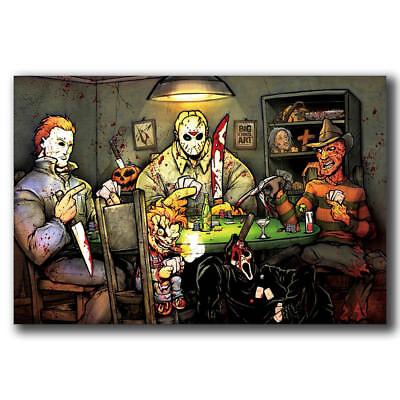 New Michael Myers vs Jason Voorhees SLASHERS Horror Movie Custom Poster Art T563 - Michael Myers Vs Jason Voorhees