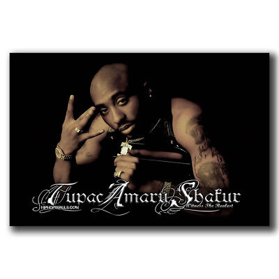 New Tupac Shakur 2Pac Hip Hop Star Pop Custom Poster Print Art Decor T 880