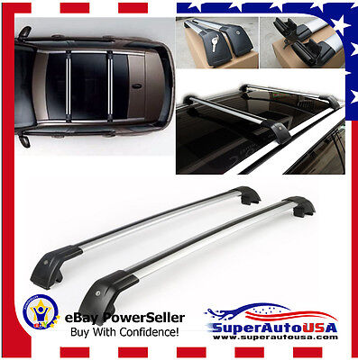 For Land Rover Discovery LR3 & LR4 2005-2016 SILVER Roof rack Bar Cross Kit Set