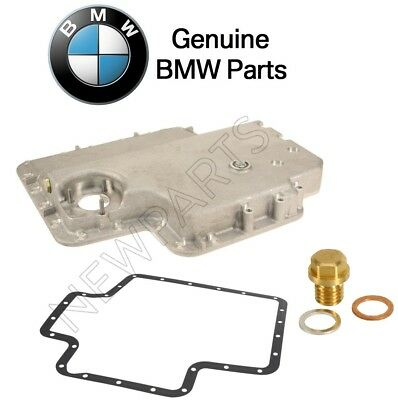NEW BMW E39 M5 00-03 Lower Engine Oil Pan With Gasket and Oil Drain Plug Kit OEM