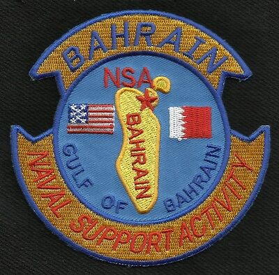 US NAVAL SUPPORT ACTIVITY GULF OF BAHRAIN MILITARY PATCH