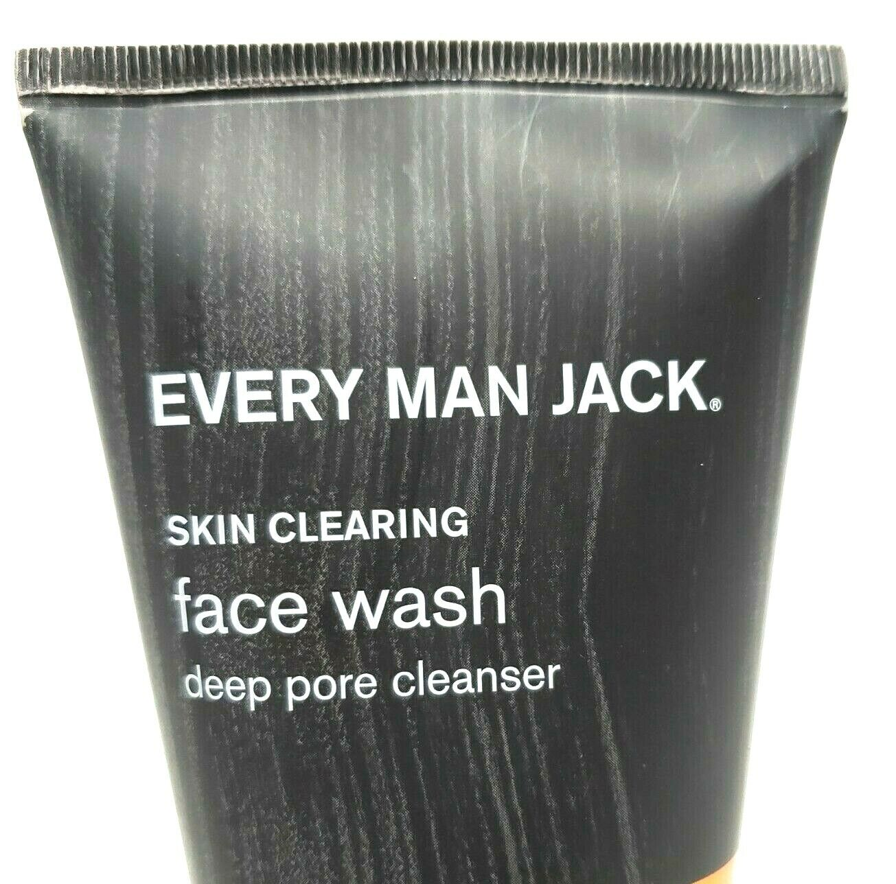 2pc Lot Every Man Jack Acne Charcoal Face Wash Deep Pore Skin Cleanser Salicylic - $16.75