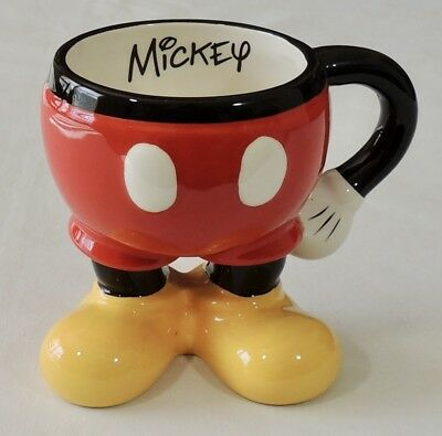 Disney Parks Authentic Original Ceramic Mickey Mouse Pants Coffee Tea Cup Mug
