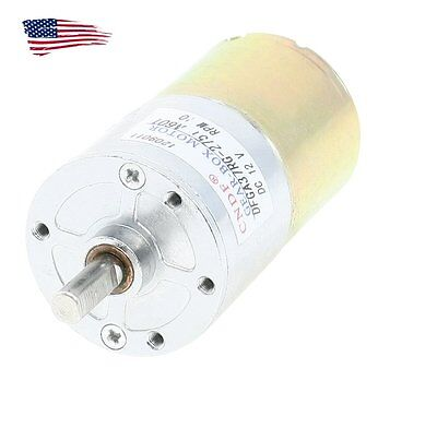 Us Dc 12v 10rpm Electric Gear Motor Speed Reduce High Torque Metal Gearbox 6mm