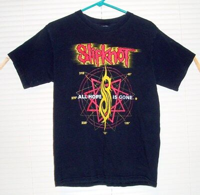 Slipknot All Hope is Gone Tour 2012 T-shirt  size M  w/ Guests