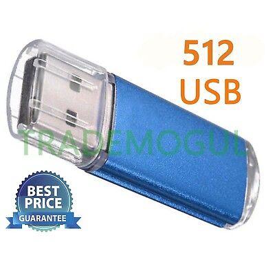 Sleek BLUE 512GB BRAND NEW USB 2.0 Thumb Pen Flash