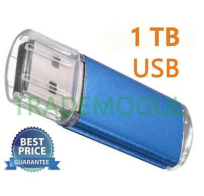 Sleek BLUE 1TB BRAND NEW USB 2.0 Thumb Pen Flash Drive