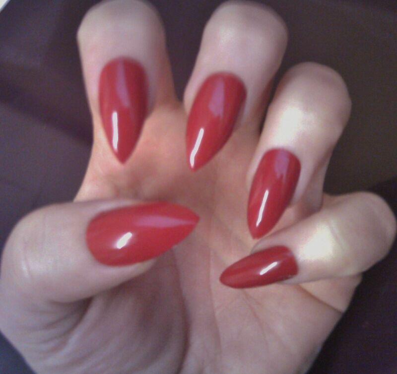 Classic red stiletto nails