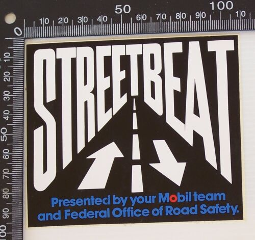 VINTAGE STREETBEAT FEDERAL OFFICE OF ROAD SAFETY MOBIL ADVERTISING PROMO STICKER