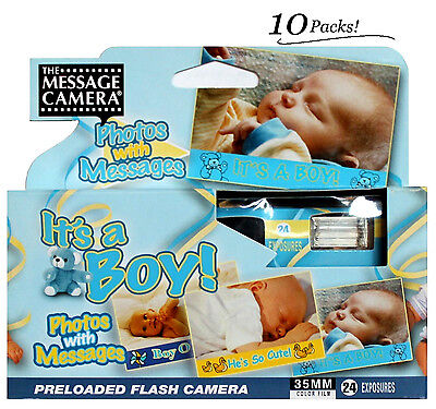 10x Boy Baby Shower Disposable Camera 35mm Film 2014 Favors Decoration Gift 2014