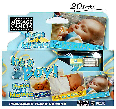 20x Boy Baby Shower Disposable Camera 35mm Film 2014 Favors Decoration Gift 2014