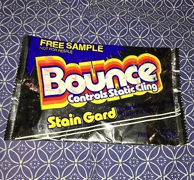 Vintage Bounce Stain Gard Static Cling Fabric Dryer Softener 6 Sheets