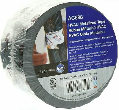 Ipg Ac698 Hvac Metal Repair Aluminum Foil Tape 2.83 X 120 Yds New