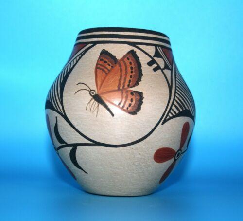 Zia Pot w/ Three Butterflies by Elizabeth & Marcellus Medina