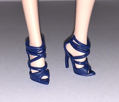 Barbie Global Glamour Sorcha Doll Outfit Blue High Heel Sandal Shoes Model Muse