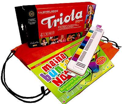 Triola 12 Kompakt-Set mit Tasche, Triola-Liederbuch MEINE BUNTEN NOTEN