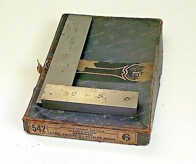 Brown And Sharpe 6 Double Bevel Machinist Square No.542 Original Box
