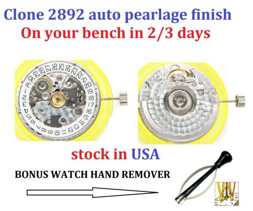 New! Clone 2892 2892 A 2 Movement Automatic Pearl Polish ( ETA Replacement )
