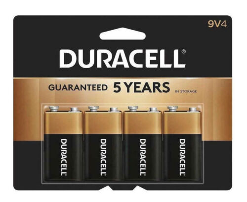 """Duracell CopperTop """"9 Volt"""" Alkaline Batteries - 4 Pack Factory Sealed/Brand NEW"""
