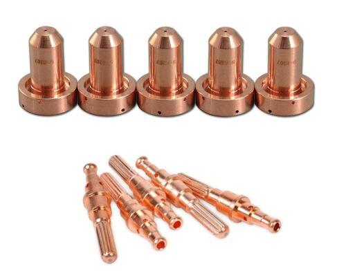 5 Pcs 9-8215 Electrodes+ 5 PCs 9-8207 Tip Fit Thermal Dynamics SL60/SL100 Plasma