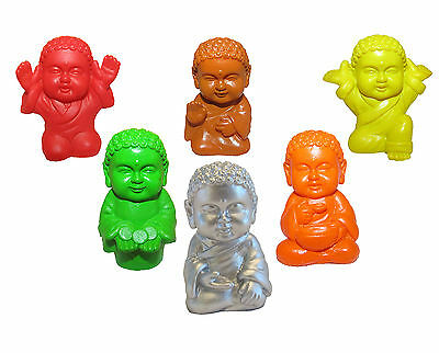 Pocket Buddha Figurine Toy Blessed Heath Joyful Prosperity Serenity Praise Set