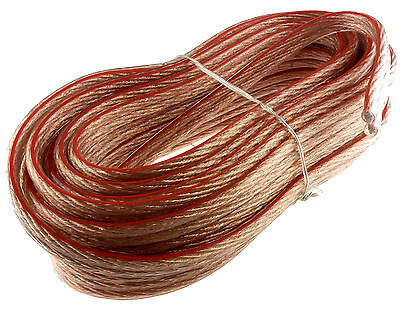 12 Gauge Speaker Wire Car Home Audio 12ga - 25 Ft Clear Fast Free Usa Shipping