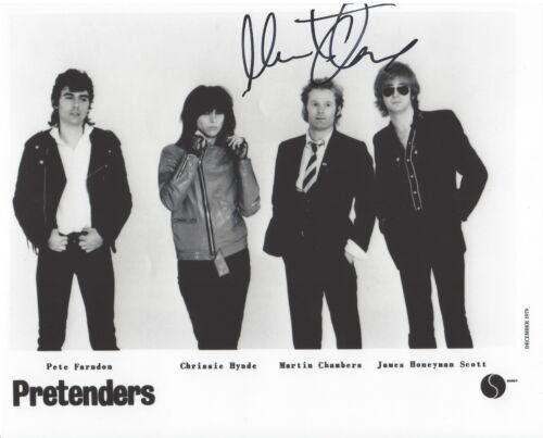 THE PRETENDERS DRUMMER MARTIN CHAMBERS SIGNED 8X10 PHOTO B W/COA GREATEST HITS