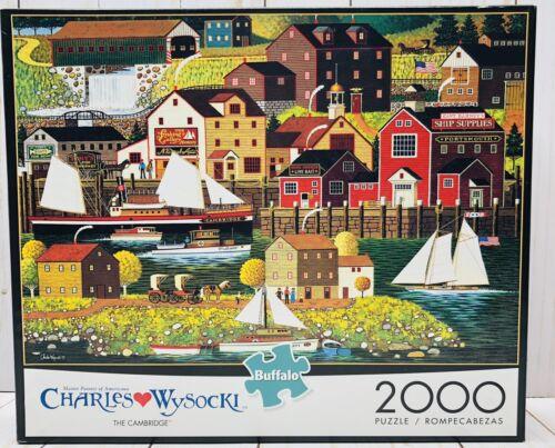 Charles Wysocki The Cambridge 2000 PC Puzzle Brand New Buffalo Games