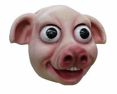 Pig Adult Latex Mask Vivid Cartoon Porky Bacon Anime Cosplay Costume Accessory - Porky Pig Halloween Costume