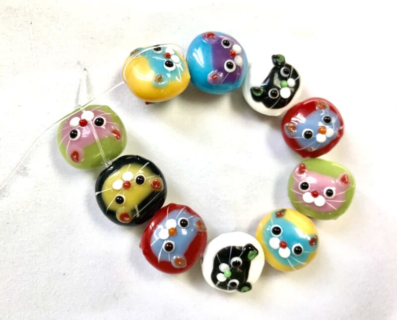 handmade lampwork glass beads