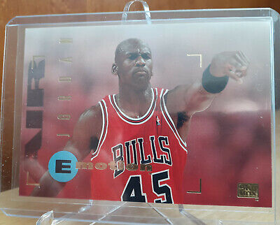 Michael Jordan 1995 Skybox E-Motion #100 (wearing number 45) Mint Condition