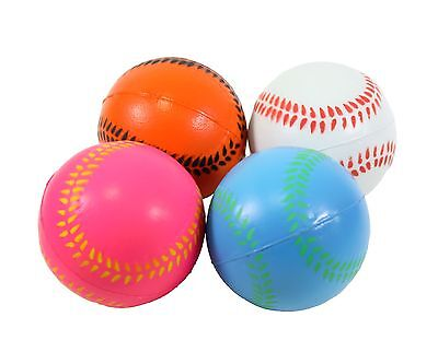 4 Big Baseball Hand Wrist Finger Exercise Stress Relief Therapy Squeeze Balls](Baseball Stress Ball)