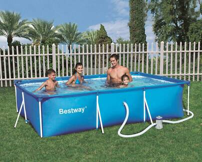 Rectangular Family Swimming Pool with Filter ⁄ Pump 300x201x66cm