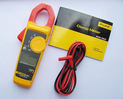 Fluke Digital Clamp 302 F302 Acdc Multimeter Tester W Case