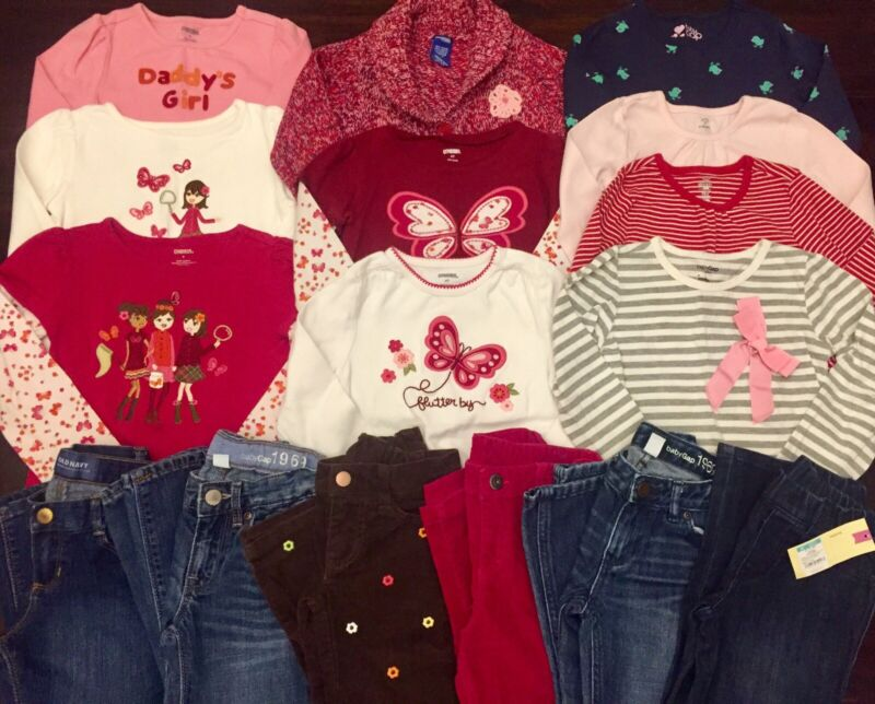 Girls 4T/4 Clothes Fall Winter Shirts Pants Jeans Outfits Girl Lot 4T/4