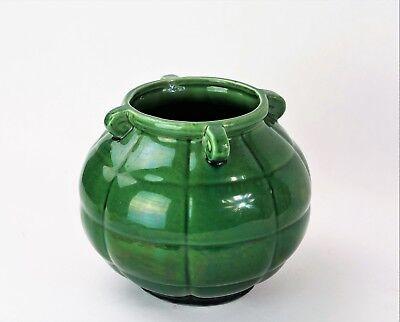Ravissant vase années 40 vert - rare vintage 40s green vase (style vallauris)