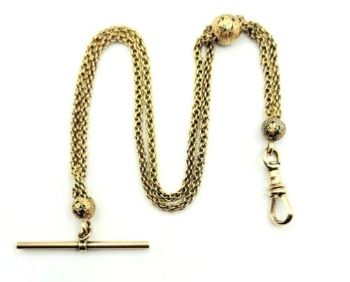 14k Yellow Gold Victorian Watch Chain, 10 Inches, 14 Grams