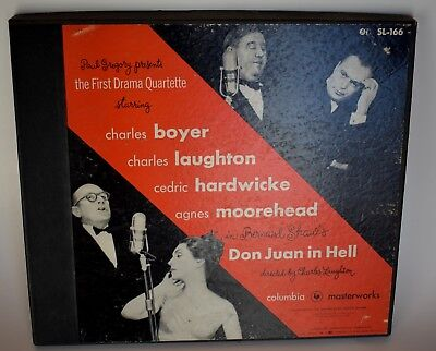 1952 Don Juan in Hell 33 1/3 RPM recording by Bernard Shaw-2 records